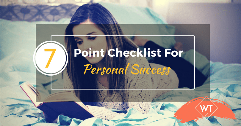 The 7 Point Checklist For Personal Success