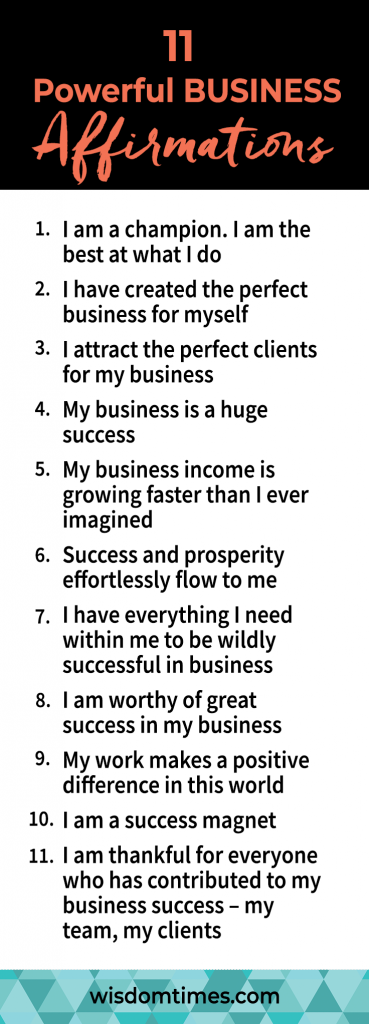 10 Powerful BUSINESS Affirmations