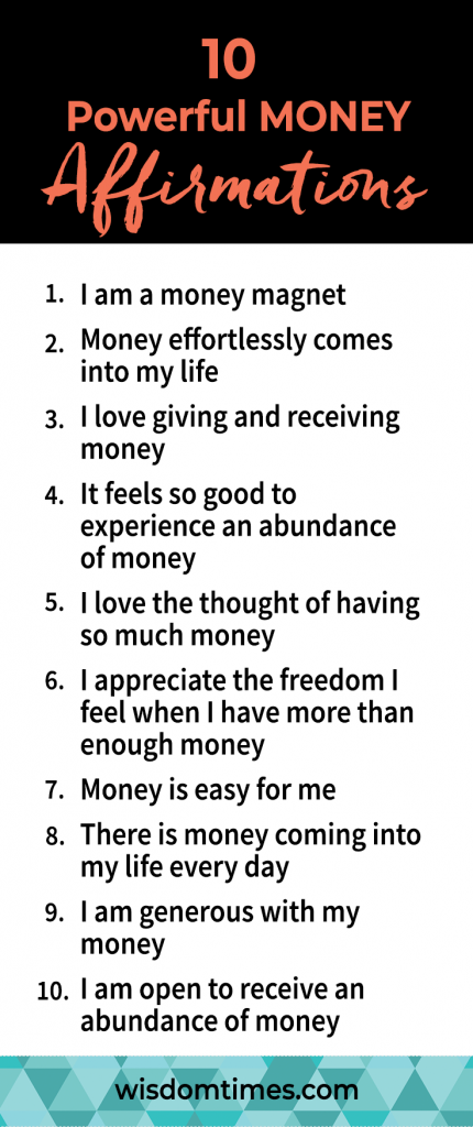 10 Powerful MONEY Affirmations