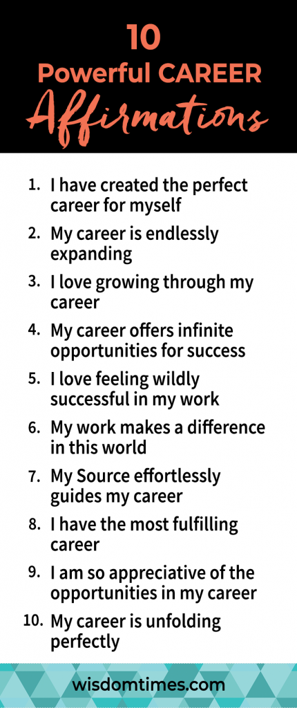 10 Powerful CAREER Affirmations