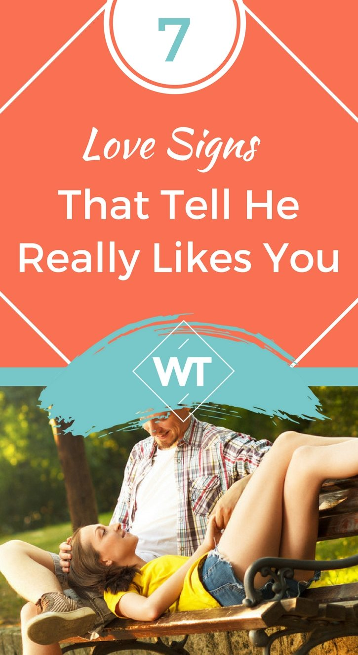 7 Love Signs That Tell A Guy Likes You