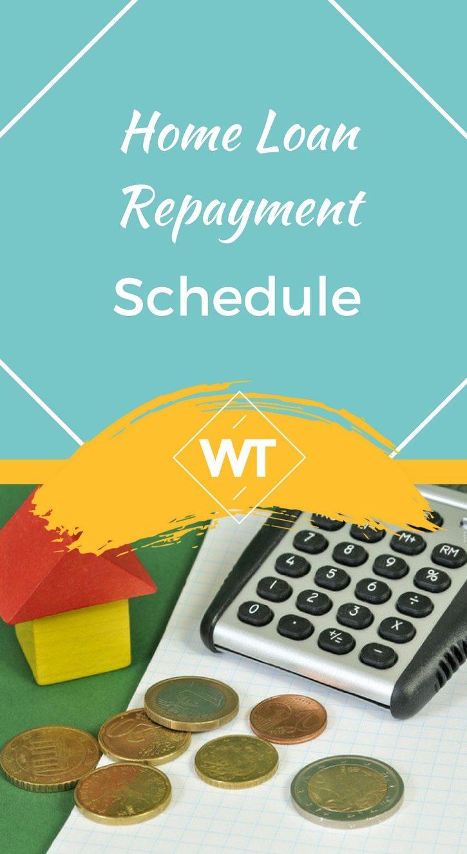 Home Loan Repayment Schedule
