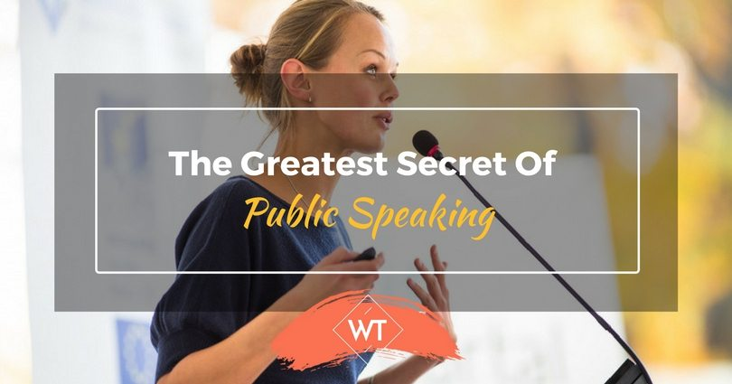 The Greatest Secret of Public Speaking