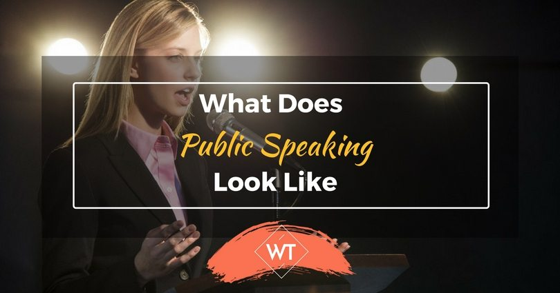 What Does Public Speaking Look Like