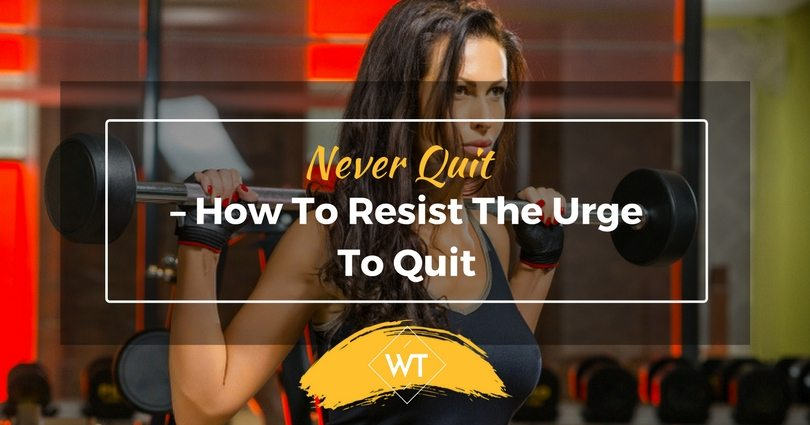 Never Quit – How to Resist the Urge to Quit